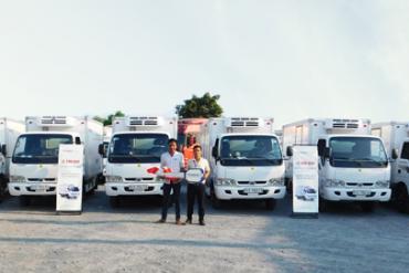 Công ty TNHH MTV Dịch vụ vận tải Tân Bảo An đầu tư lô 10 xe đông lạnh Thaco Frontier140